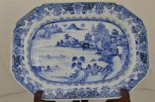 Qian Long Blue and White Porcelain big Plate