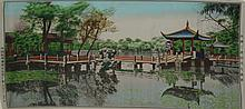 Chinese Silk-Woven Art of a Garden
