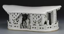 Chinese Blanc de Chine Porcelain Pillow