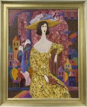 Framed Oil on Canvas,