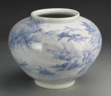 Korean Blue and White Jar