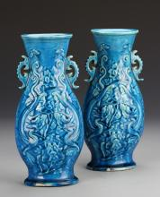 Pair of Chinese Turquoise Glazed Vase