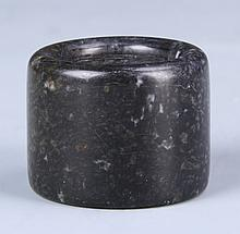 Chinese Black Jade Thumb Ring