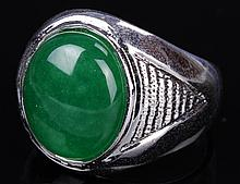 Chinese Jadeite Silver Ring