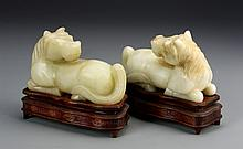 Chinese Pair of Jade Horses