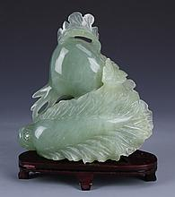 Chinese Jade Fruit with Stand