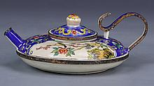 Chinese Enameled Bronze Teapot
