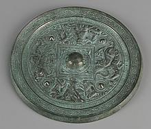 Chinese Han Dynasty Bronze Mirror
