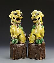 Pair of Chinese Export Foo Lions