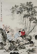 Chinese Scroll Painting, Attributed to Wei Zi Xie