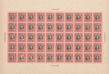Sheet of 50 Chinese Stamps