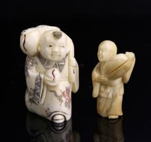 Japanese Hand-Carved  Figures