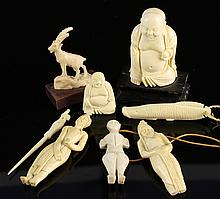 Seven Chinese Ivory Items