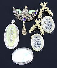 Five Chinese Jewelery Items
