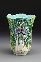 Chinese Export Famille Rose Cabbage Vase