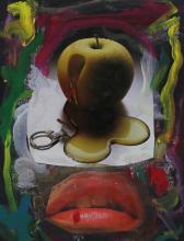 Abstract Art Apple Lips