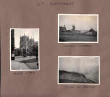 Three Photos of Cliffs at Cromer and King Lynn