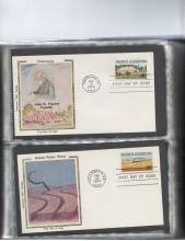 Two American Stamp Albums