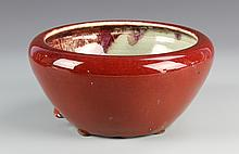Chinese Oxblood Glazed Brush Pot