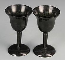 Pair of Chinese Jade Wine Cups