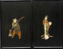 Pair of Chinese Wall Hanging with Figure
