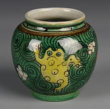 Chinese Wucai Glazed Jar