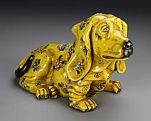 Chinese Yellow-Glazed Foo Dog