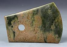 Chinese Carved Jade Axe