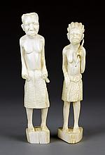 A Pair of African Ivory Ladies