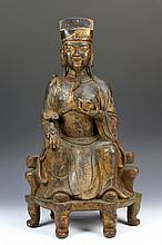 Chinese Bronze Statue of God of Wealth