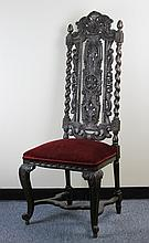 Carved William and Mary Style Side Chair