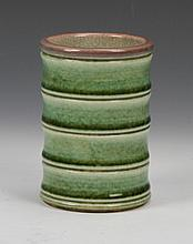 Chinese Green Glazed Brush Pot