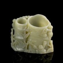 Chinese Jade Flower Pot