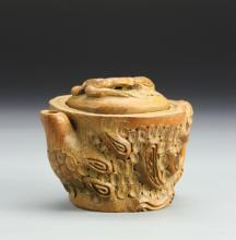 Chinese Carved Bamboo Teapot