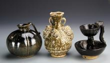 Three Antique Chinese Porcelain Items