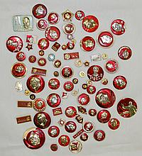 Group of Eighty Chinese Badges