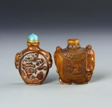 Chinese Horn Snuff Bottles