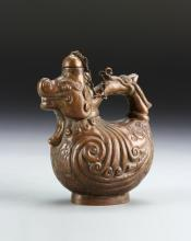 Large Chinese Bronze Snuff Bottle