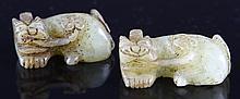 Pair of Chinese Jade Foo Lions