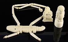 Three Chinese Ivory Items