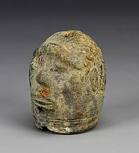 Antique Bronze Figure Head
