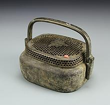 Chinese Bronze Bed Warmer
