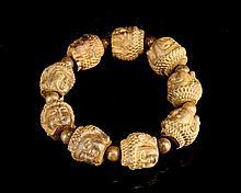 Chinese Chenxiangmu Bead Bracelet