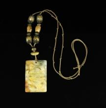 Agate Necklace and Turtle Pendant