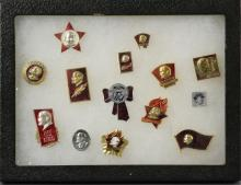 Fourteen Soviet Union Badges of Lenin