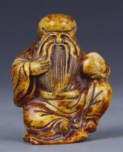 Chinese Carved Shoulao Figure