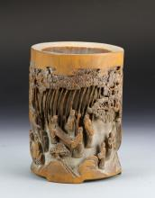 Chinese Bamboo Carved Brush Pot