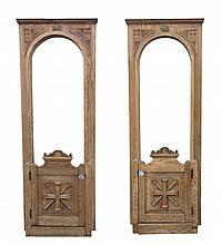 American Gothic Revival Oak Doors