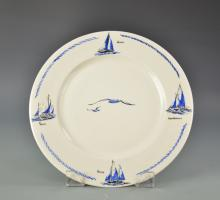 Nautical Themed Plate with 4 Different Sail Plans