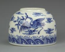 Chinese Blue And White Brush Washer